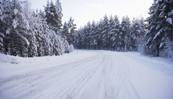 Снег на путу