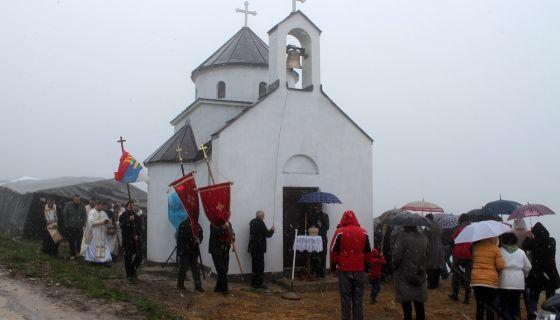 Osvestana spomen-crkva ukraj puta LJepojevici - Javor