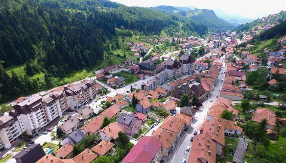 Nova Varoš (snimak iz vazduha)