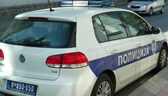 Policijski automobil/ ilustracija