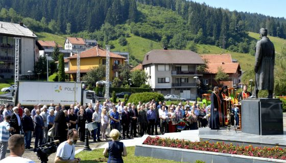 Свечаност  у част војводе Бојовића на градском тргу ( Фото: Раде Прелић)