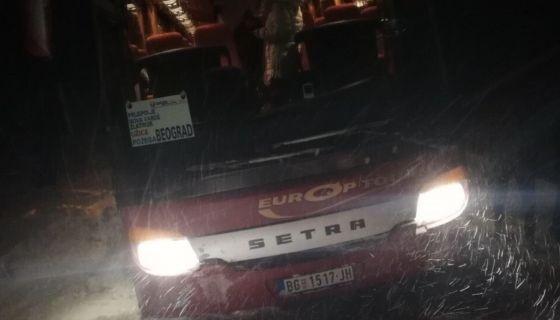 Аутобус Гаге склизнуо с' пута