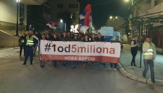 """Протест """"1 од 5 милиона""""  у Новој Вароши"""