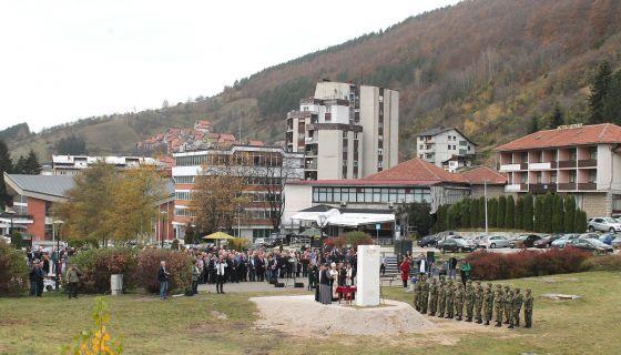 Трг војводе Петра Бојовића - са откривања споменика ратницима 1912-1918.