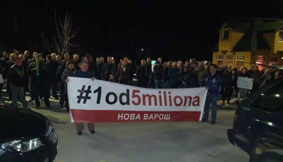 Други протесни скуп Један од пет милиона одржан у Новој Вароши