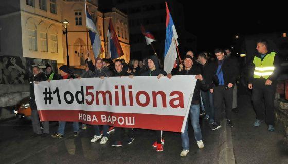 Četvrti protest 1 od 5 miliona u Novoj Varoši