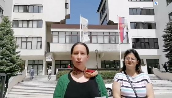 Ленка Новаковић и Оливера Матовић на конференцији за новинаре ОО Двери