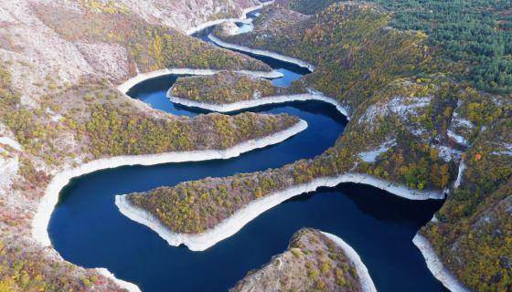 Увачко језеро код  сјеничког села Лопиже
