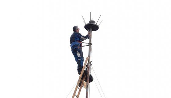 Замена громобрана у Прибоју, фото: ОУ Прибој