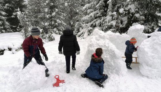 Зимске радости - снега у изобиљу (снимио М. Гагричић)