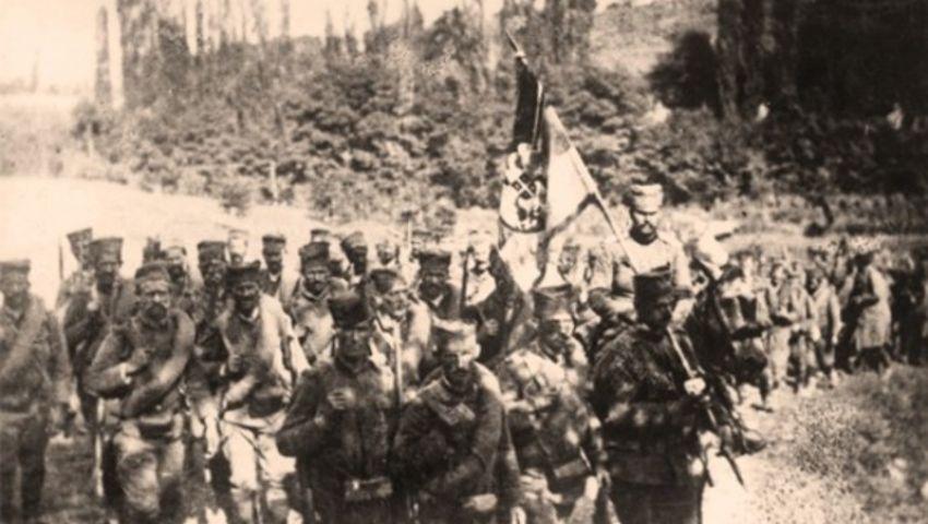 """Четврти (ужички) пешадијски пук """"Стеван Немања"""" одлази на положаје - Нововарошки крај у Великом рату"""