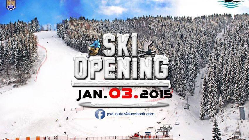 Otvaranje ski staze na Zlataru