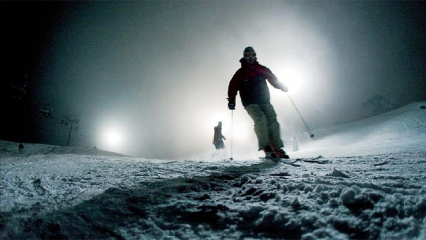 Ноћно скијање на Златару (видео)