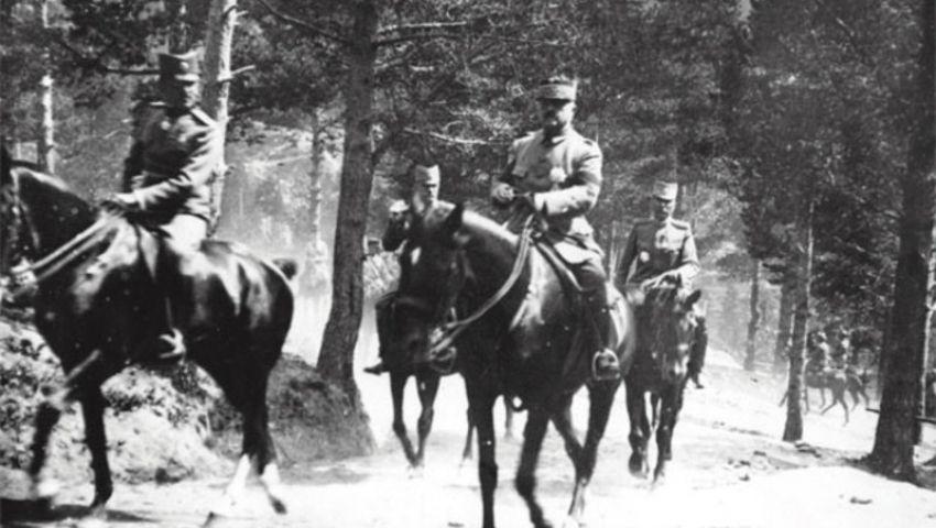 Петар Бојовић и престолонаследник Александар Карђорђевић 1918. године