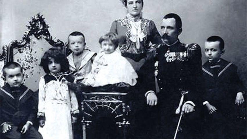 Петар и Милева Бојовић са децом 1913. године